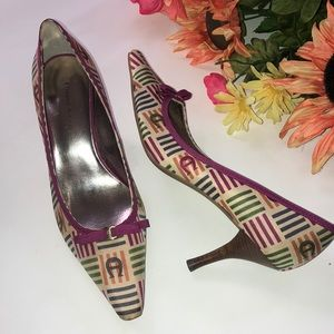ETIENNE AIGNER E-VANCE like new fabric pumps